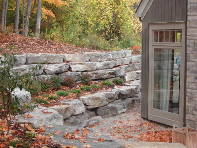 Retaining wall practical and beautiful