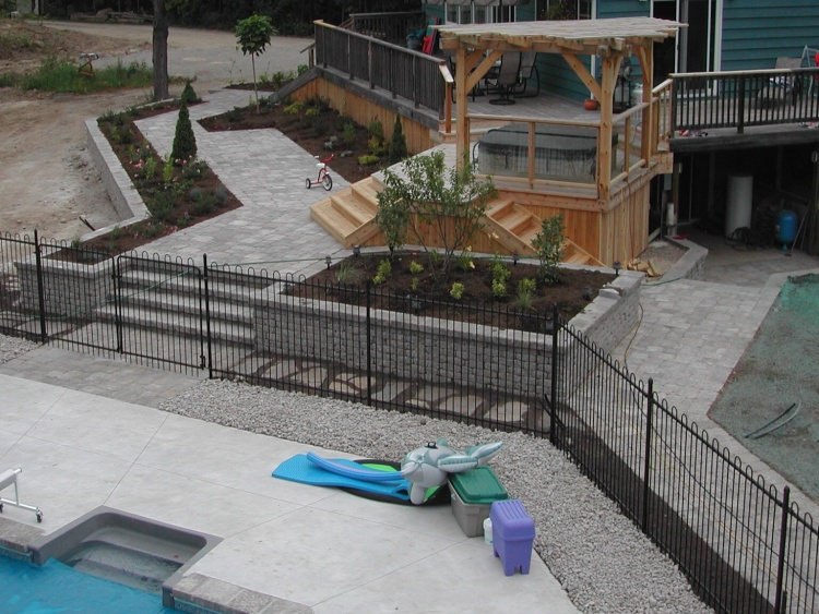 Fiberglass Hot Tubs Installation Collingwood Thornbury Meaford Natural Stonescapes Landscaping